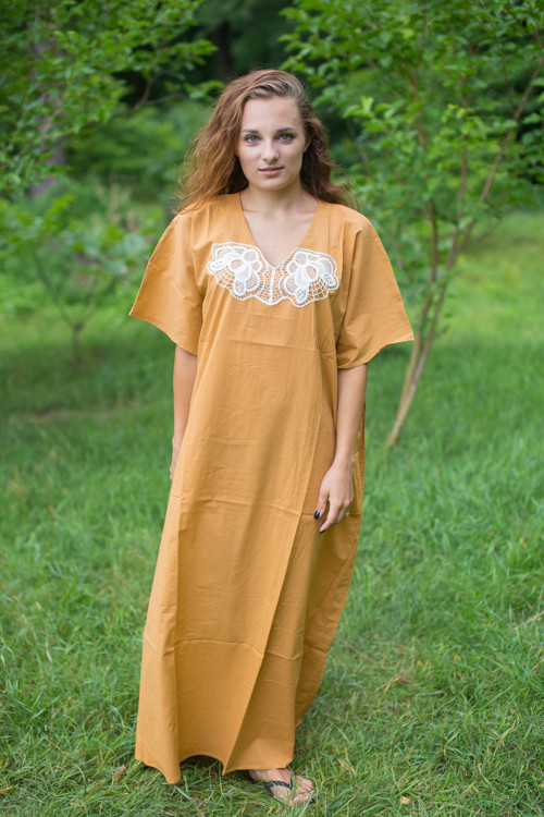 """Luscious Lace"" kaftan in  Beige"