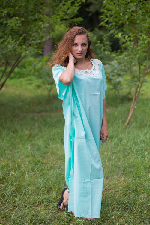 """Luscious Lace"" kaftan in Mint"