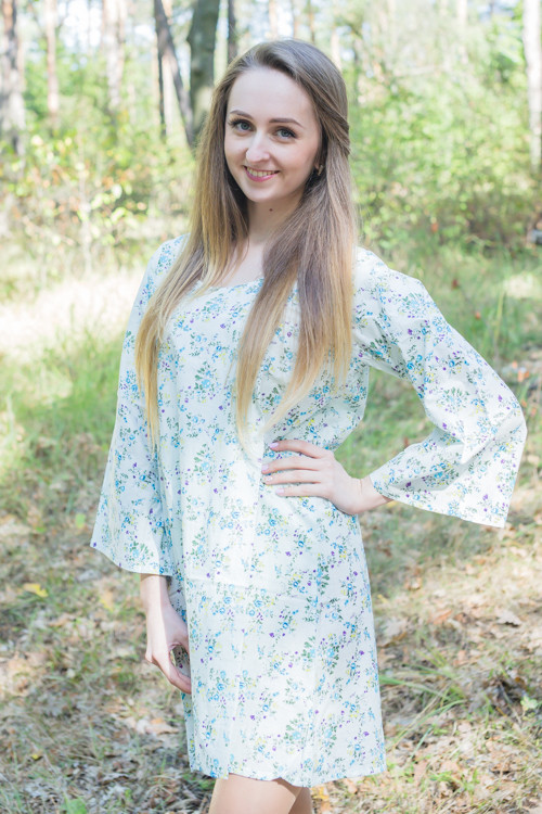 """Bella Tunic"" kaftan dress in Tiny Blossoms pattern"