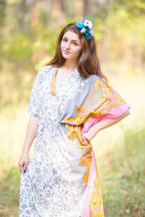 """The Drop-Waist"" kaftan in Falling Leaves pattern"