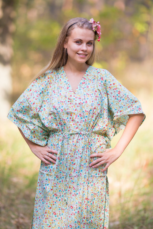 """The Drop-Waist"" kaftan in Petit Florals pattern"