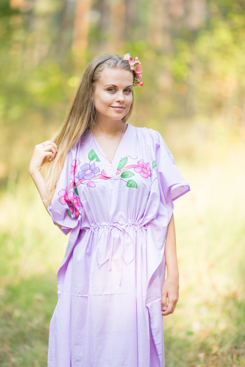 """The Drop-Waist"" kaftan in Swirly Floral Vine pattern"