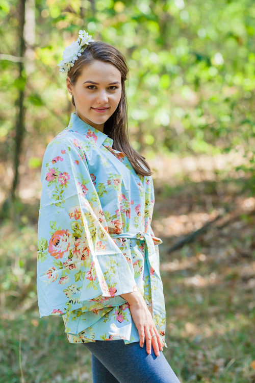 """Oriental Delight"" kaftan Top in Flower Rain pattern"