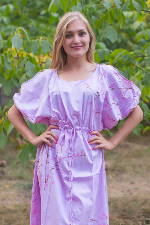 """""""Cut-out Cute"""" kaftan in Cherry Blossoms pattern"""