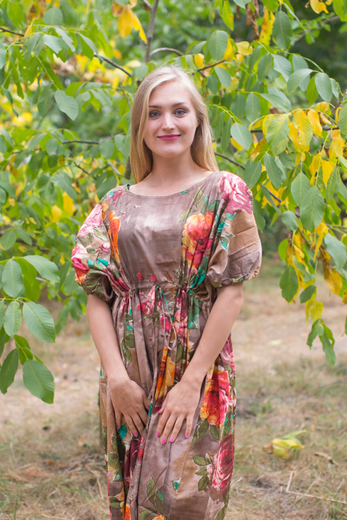 """Cut-out Cute"" kaftan in Large Floral Blossom pattern"