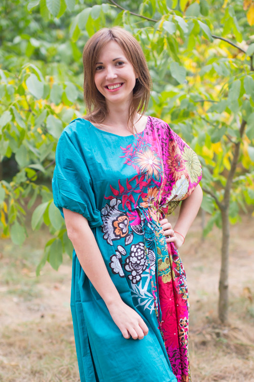 """Cut-out Cute"" kaftan in Vibrant Foliage pattern"