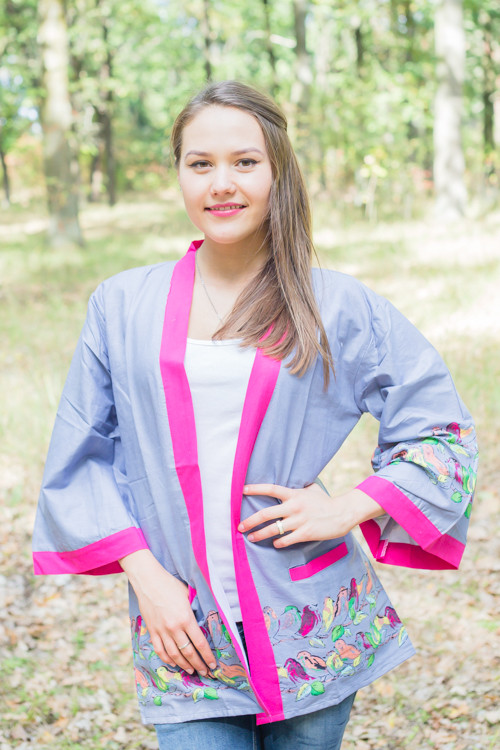 """Street Style"" Kimono jacket in Little Chirpies pattern"