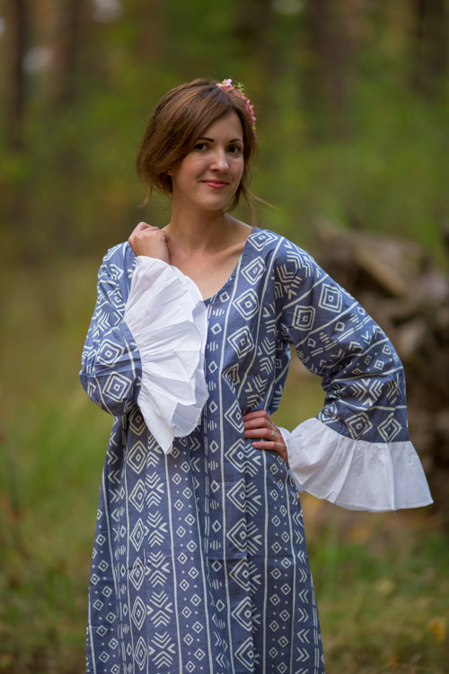 """Frill lovers"" kaftan in Tribal Aztec pattern"