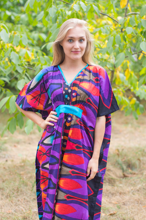"""Unfurl"" kaftan in Glowing Flame pattern"