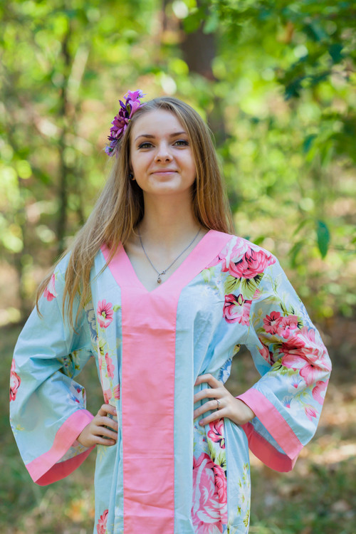 """""""The Glow Within"""" kaftan in Cabbage Roses pattern"""