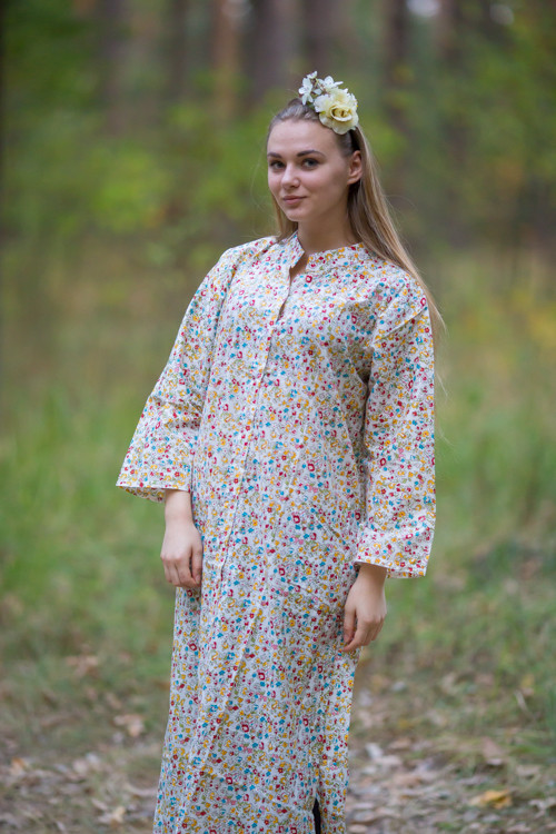 """Charming Collars"" kaftan in Petit Florals pattern"