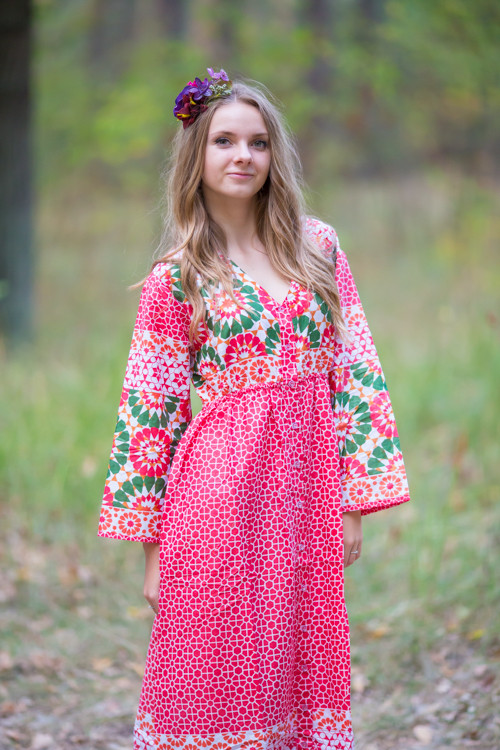 """""""Button me down"""" kaftan in Round and Round pattern"""