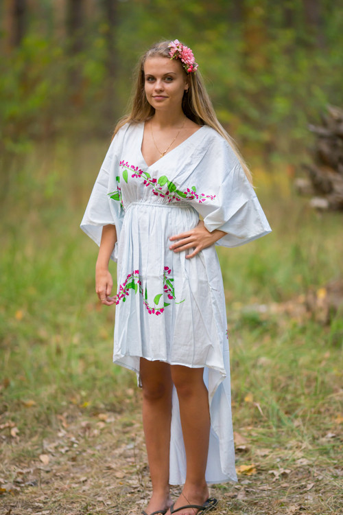 """High Low Wind Flow"" kaftan in Climbing Vines pattern"