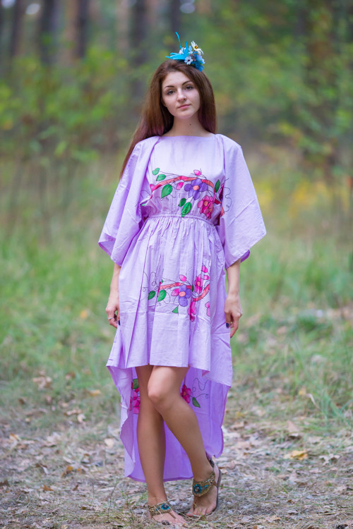 """High Low Wind Flow"" kaftan in Swirly Floral Vine pattern"