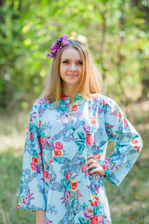 """Mandarin On My Mind"" kaftan in Cute Bows pattern"
