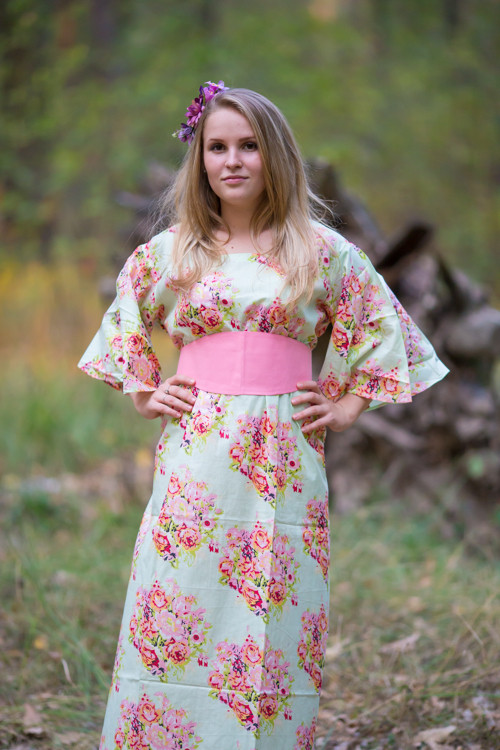 """Beauty, Belt and Beyond"" kaftan in Floral Posy"