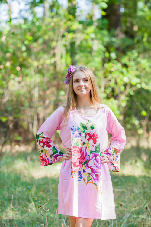 """Bella Tunic"" kaftan dress in One Long Flower pattern"