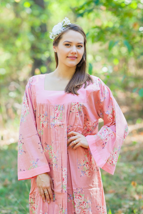 """Fire Maiden"" kaftan in Faded Floral pattern"