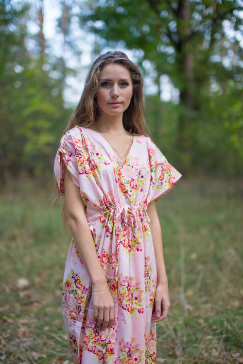 """Magic Sleeves"" kaftan in Floral Posy pattern"