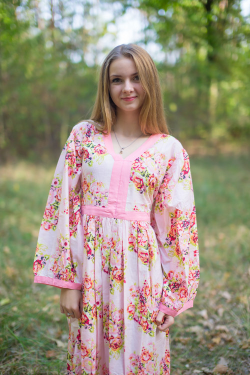 """My Peasant Dress"" kaftan in Floral Posy pattern"