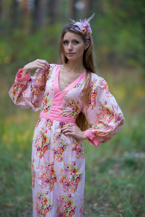 """My Peasant Dress"" in Floral Posy pattern"