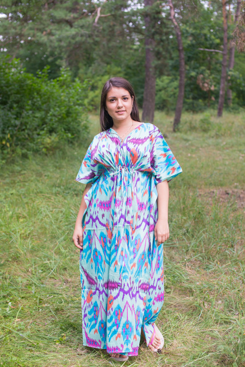 """Timeless"" kaftan in Ikat Aztec pattern"