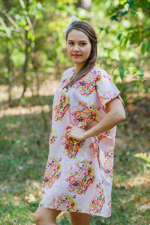 """Sunshine"" Tunic Dress kaftan in Floral Posy"