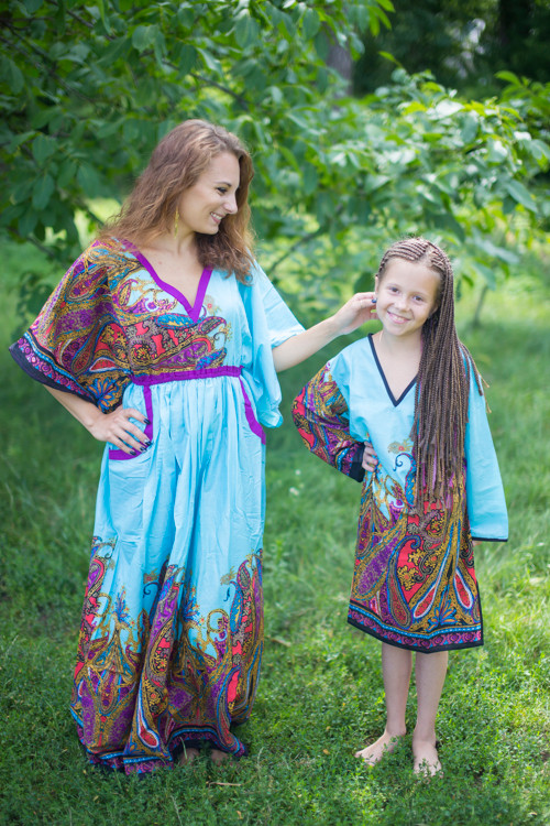 """Breezy Bohemian"" kaftan in Cheerful Paisleys pattern"