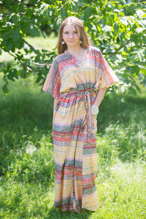 """Best of both the worlds"" kaftan in Abstract Geometric pattern"