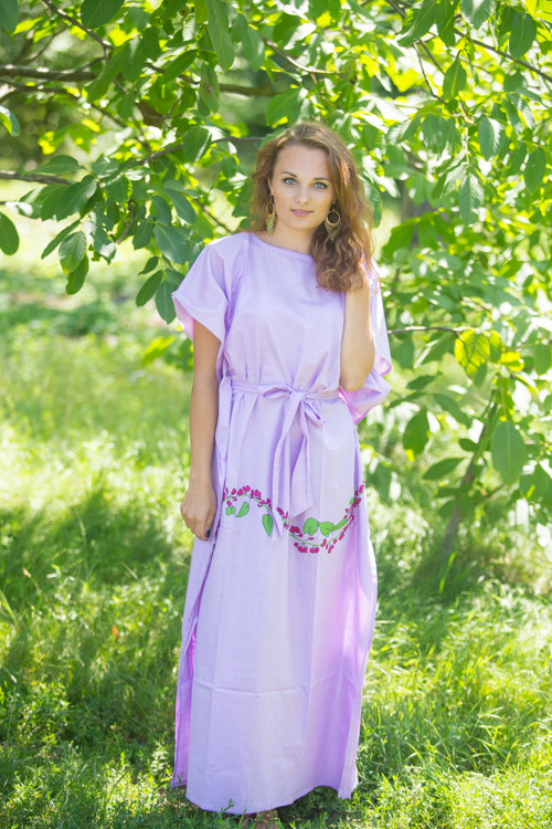 """Divinely Simple"" kaftan in Climbing Vines pattern"