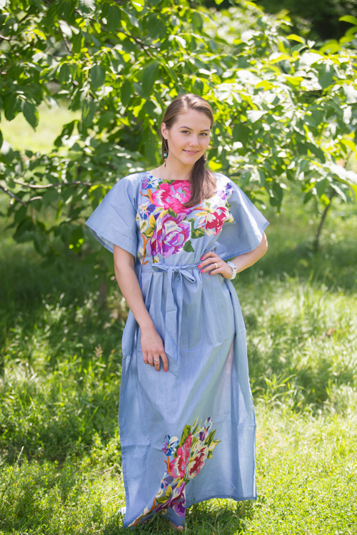 """Divinely Simple"" kaftan in One Long Flower pattern"
