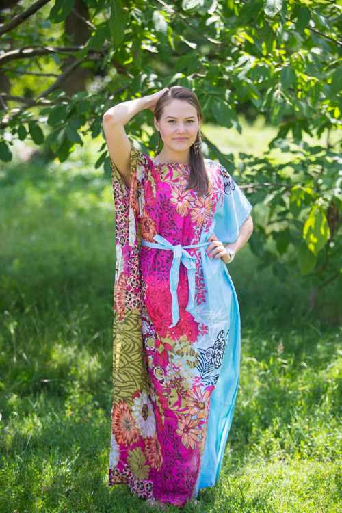 """Divinely Simple"" kaftan in Vibrant Foliage pattern"