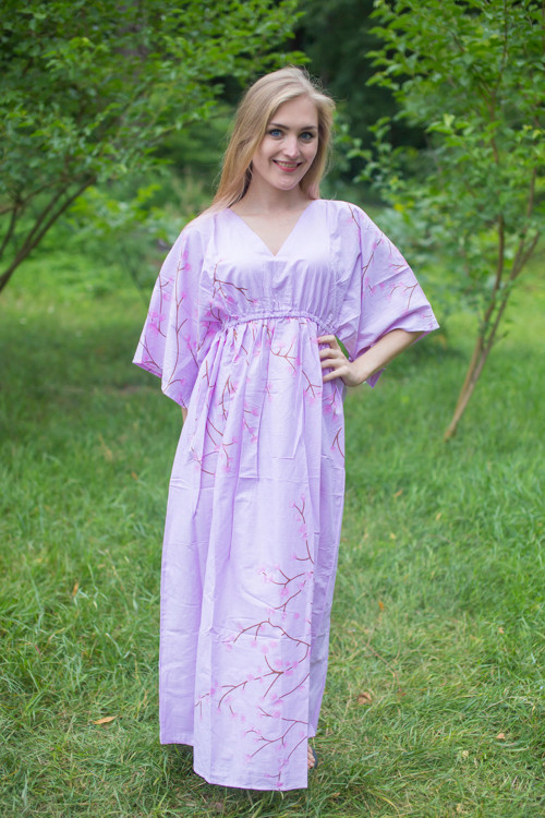 """I wanna Fly"" kaftan in Cherry Blossoms pattern"