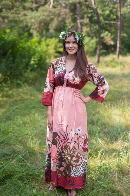"""Button me down"" kaftan in Jungle of Flowers pattern"