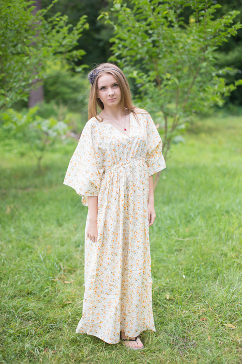 """I wanna Fly"" kaftan in Starry Florals pattern"