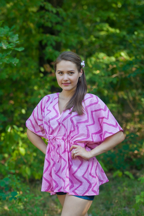 """Timeless"" kaftan Top in Chevron pattern"