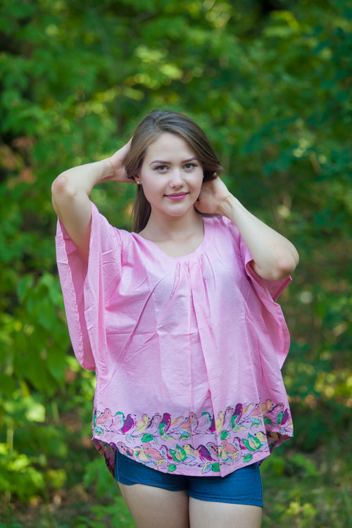 """Summer Celebration"" kaftan Top in Little Chirpies pattern"