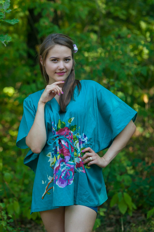 """Summer Celebration"" kaftan Top in One Long Flower pattern"