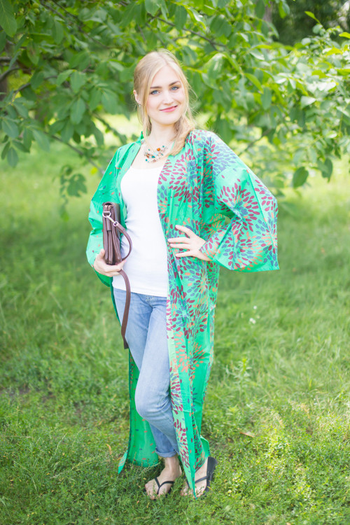 """Boho-Chic"" Kimono jacket in Abstract Floral pattern"