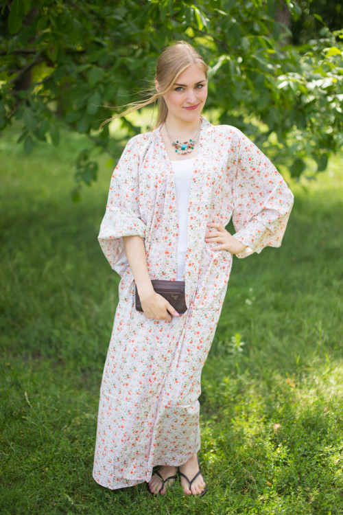 """Boho-Chic"" Kimono jacket in Starry Florals pattern"