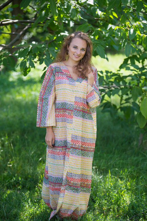 """The Glow Within"" kaftan in Abstract Geometric pattern"