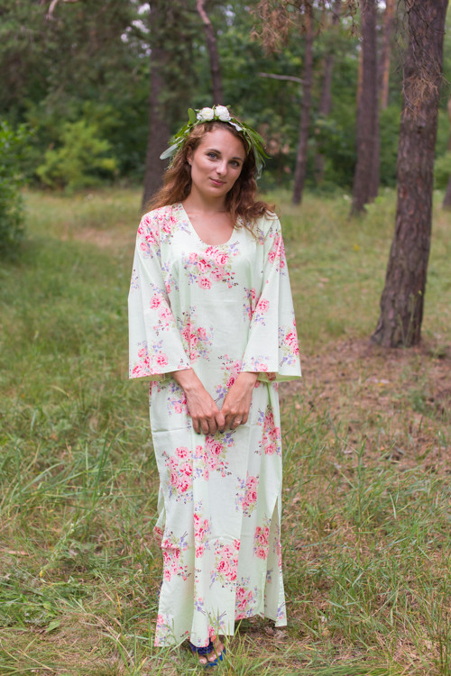 """The Unwind"" kaftan in Faded Flowers pattern"