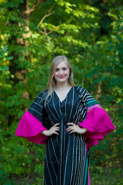"""Ballerina"" kaftan in Multicolored Stripes pattern"