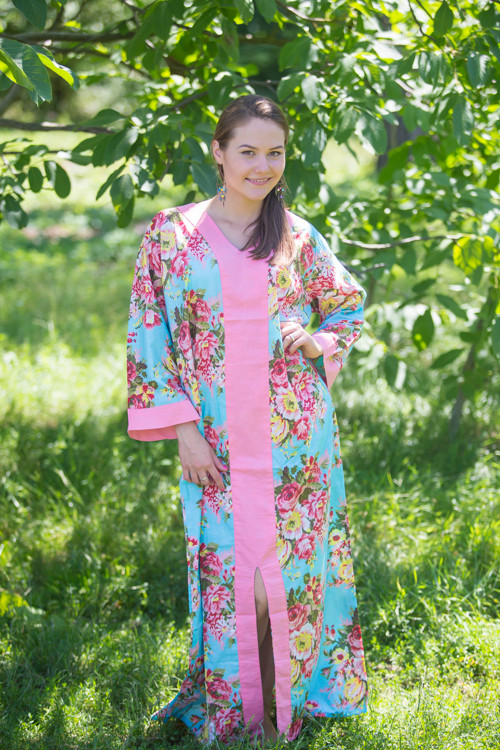 """""""The Glow Within"""" kaftan in Rosy Red Posy pattern"""
