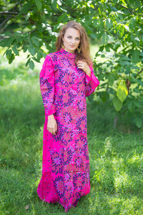 """Charming Collars"" kaftan in Abstract Floral pattern"
