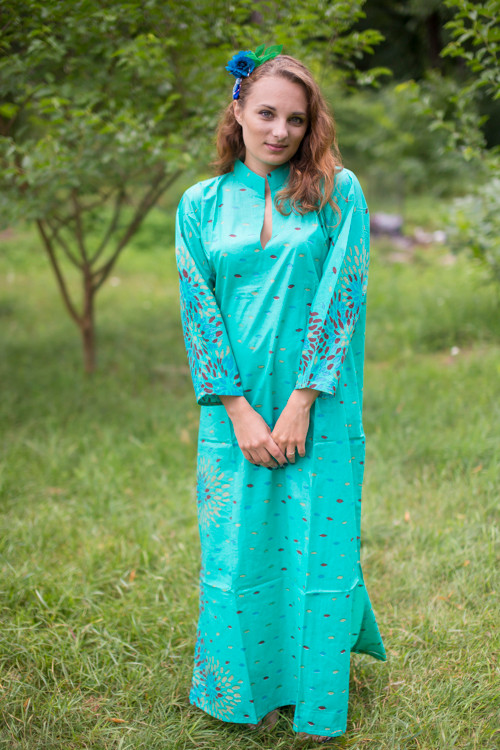 """Mandarin On My Mind"" kaftan in Abstract Floral pattern"