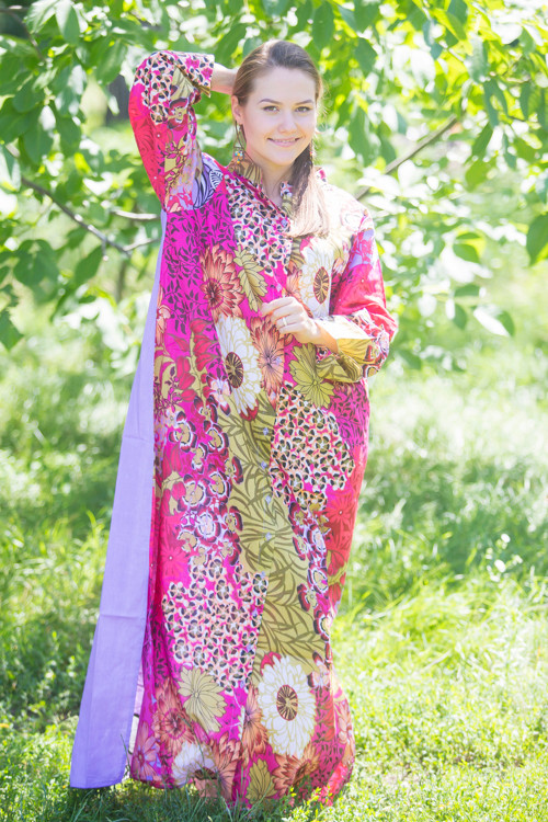 """Charming Collars"" kaftan in Vibrant Foliage pattern"