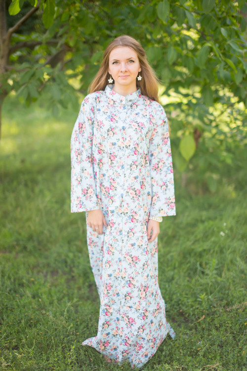 """Charming Collars"" kaftan in Vintage Chic Floral pattern"