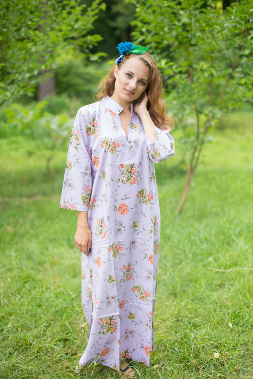 """Mandarin On My Mind"" kaftan in Romantic Florals pattern"
