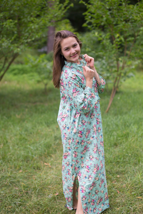 """Mandarin On My Mind"" kaftan in Vintage Chic Floral pattern"